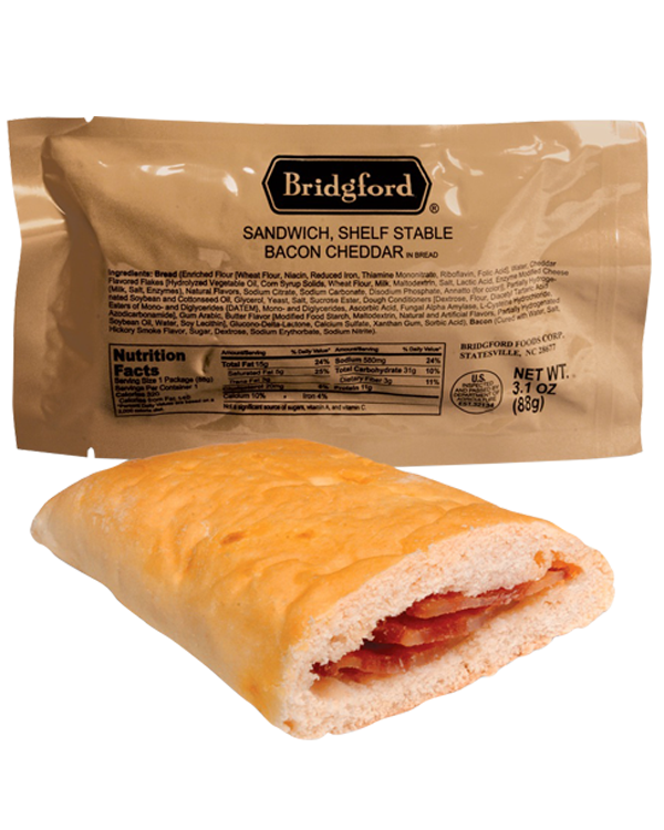 Bacon in Cheese-Flavored Bread